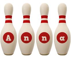 Anna bowling-pin logo