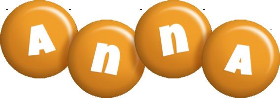Anna candy-orange logo