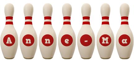 Anne-Ma bowling-pin logo
