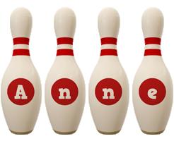 Anne bowling-pin logo