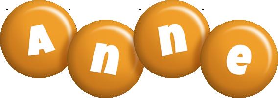 Anne candy-orange logo