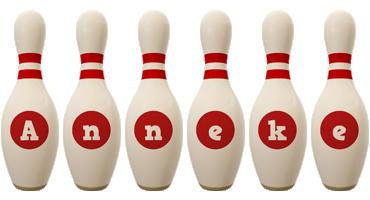 Anneke bowling-pin logo