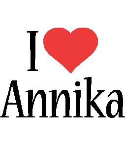 Annika i-love logo