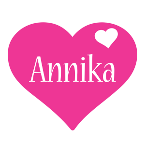 Annika love-heart logo