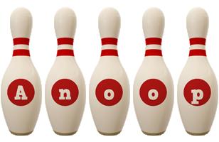 Anoop bowling-pin logo