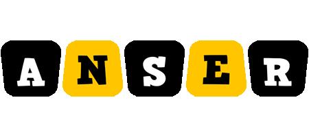 Anser boots logo