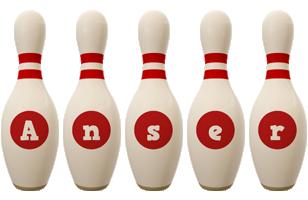 Anser bowling-pin logo