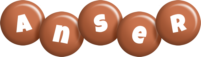Anser candy-brown logo