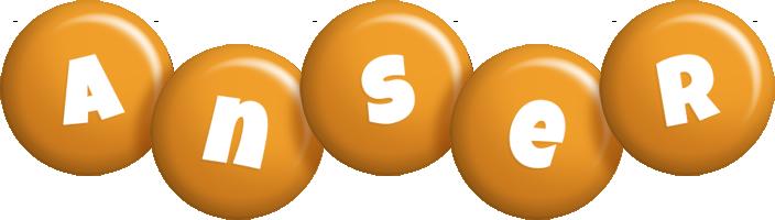 Anser candy-orange logo