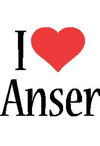 Anser i-love logo