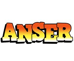 Anser sunset logo