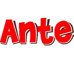 Ante basket logo