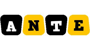Ante boots logo
