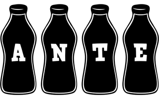 Ante bottle logo