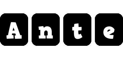 Ante box logo