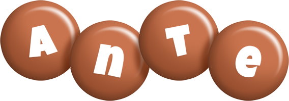 Ante candy-brown logo