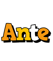 Ante cartoon logo