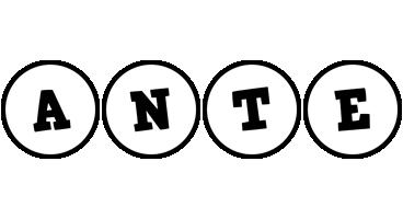 Ante handy logo