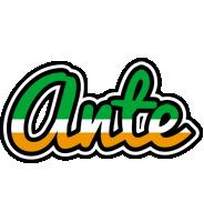 Ante ireland logo