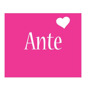 Ante love-heart logo