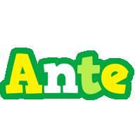 Ante soccer logo