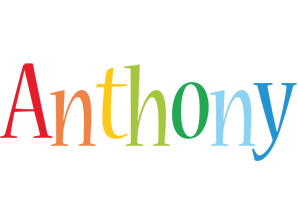 Anthony birthday logo