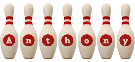 Anthony bowling-pin logo