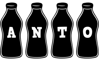 Anto bottle logo