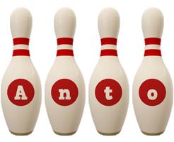 Anto bowling-pin logo