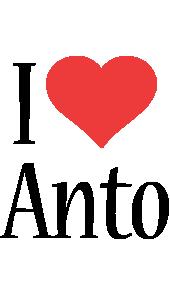 Anto i-love logo