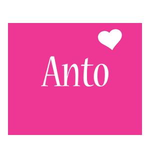 Anto love-heart logo