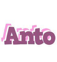 Anto relaxing logo