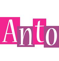 Anto whine logo