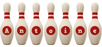 Antoine bowling-pin logo