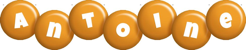 Antoine candy-orange logo