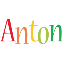 Anton birthday logo