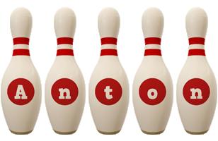 Anton bowling-pin logo