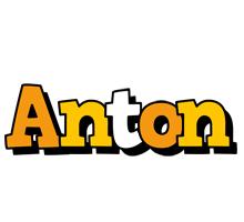 Anton cartoon logo