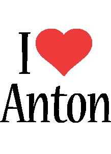 Anton i-love logo