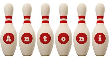 Antoni bowling-pin logo