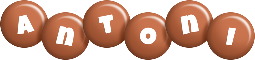 Antoni candy-brown logo