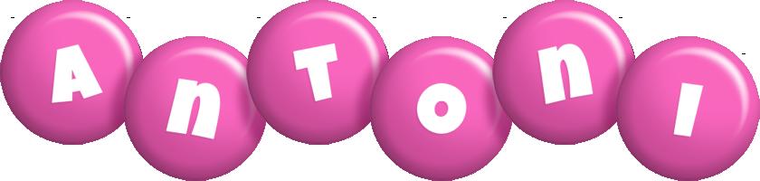 Antoni candy-pink logo