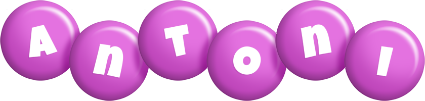 Antoni candy-purple logo