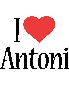 Antoni i-love logo