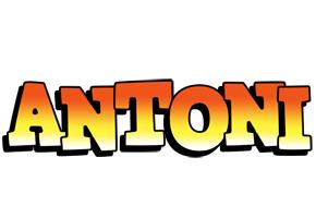 Antoni sunset logo