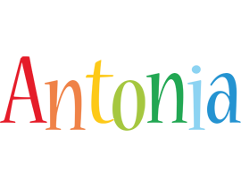 Antonia birthday logo