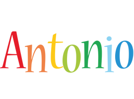 Antonio birthday logo