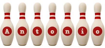 Antonio bowling-pin logo