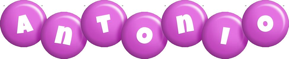 Antonio candy-purple logo