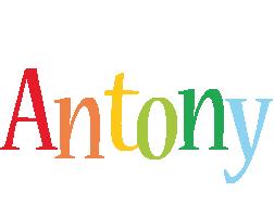 Antony birthday logo